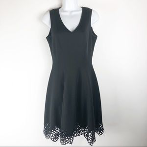 Maia Gorgeous Black Dress with Lace Bottom